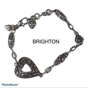 "Brighton Laguna Weave Bracelet Heart 7.25 - 8.25"""
